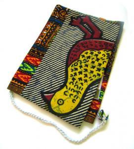 アフリカ布製ブックカバー BK-02