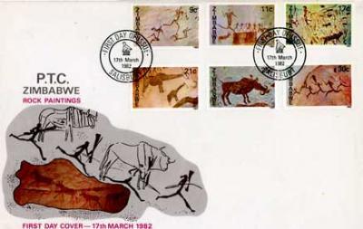 ジンバブエ古切手セット ロックペインティング