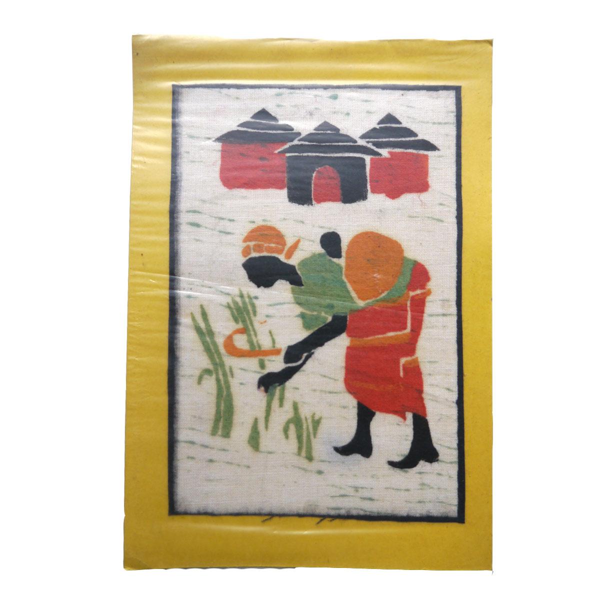 ジンバブエポストカード(収穫する母) PC-05