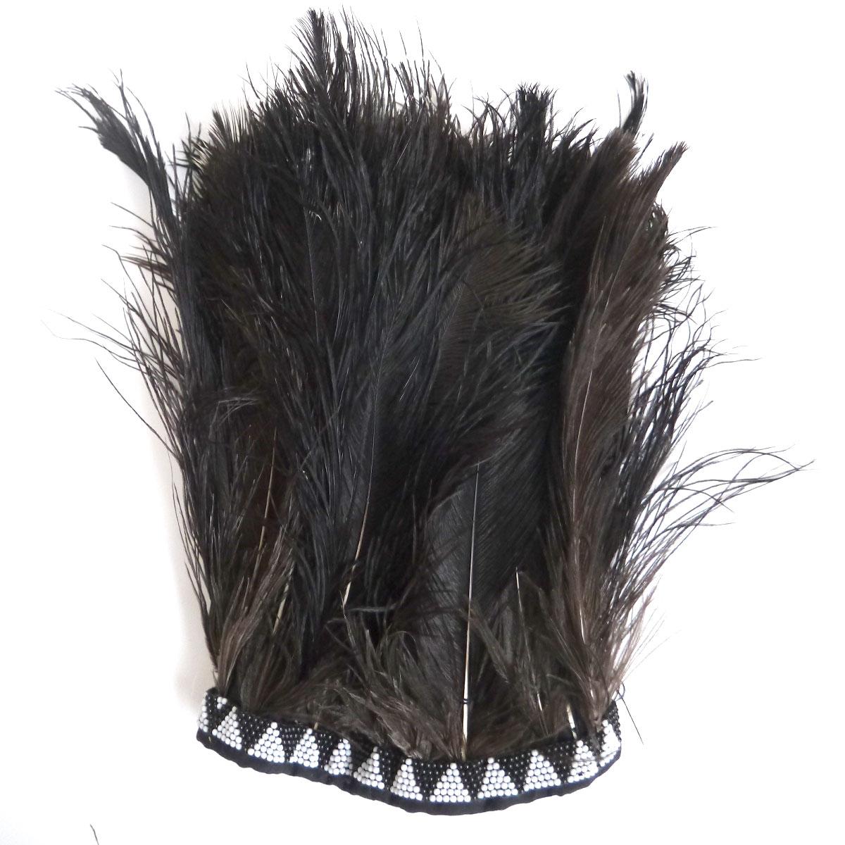 ダチョウ羽根帽子(黒) FH-01